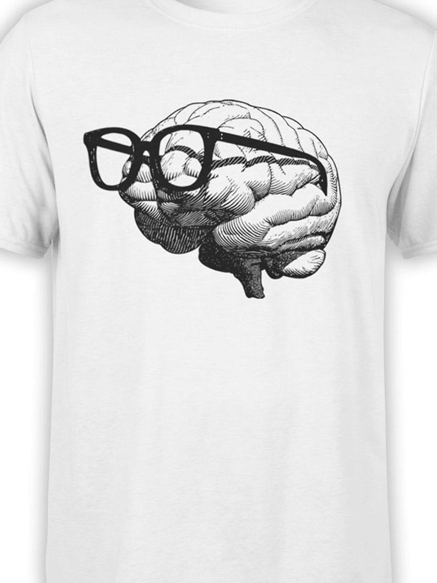 1921 Nerd Brain T Shirt Front Color