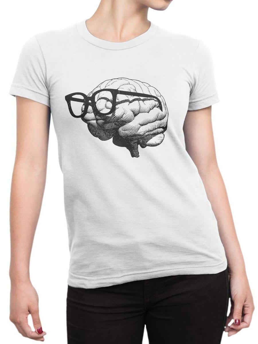 1921 Nerd Brain T Shirt Front Woman