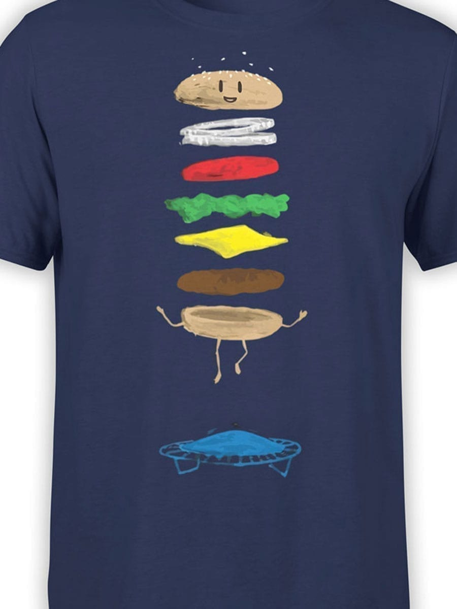 1930 Burger Jump T Shirt Front Color