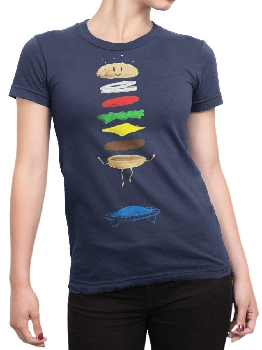 1930 Burger Jump T Shirt Front Woman