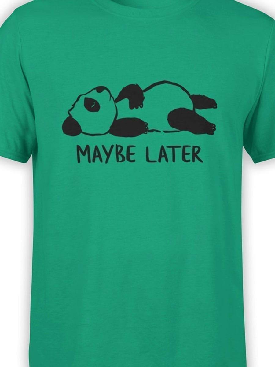 1932 Lazy Panda T Shirt Front Color