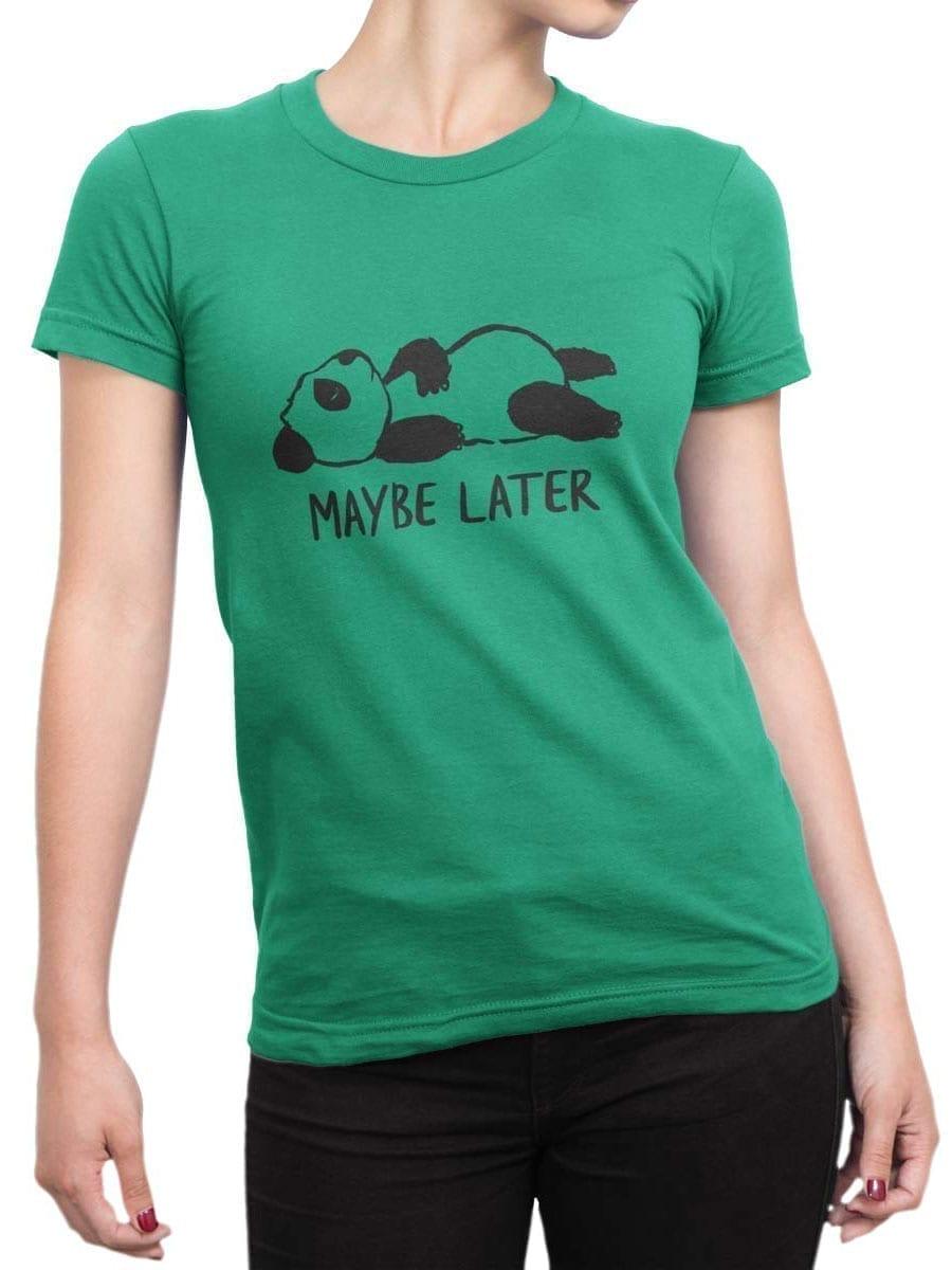 1932 Lazy Panda T Shirt Front Woman