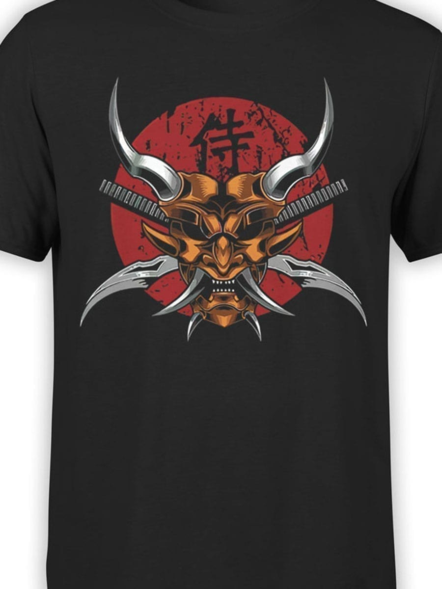 1941 Scary Samurai Mask T Shirt Front Color