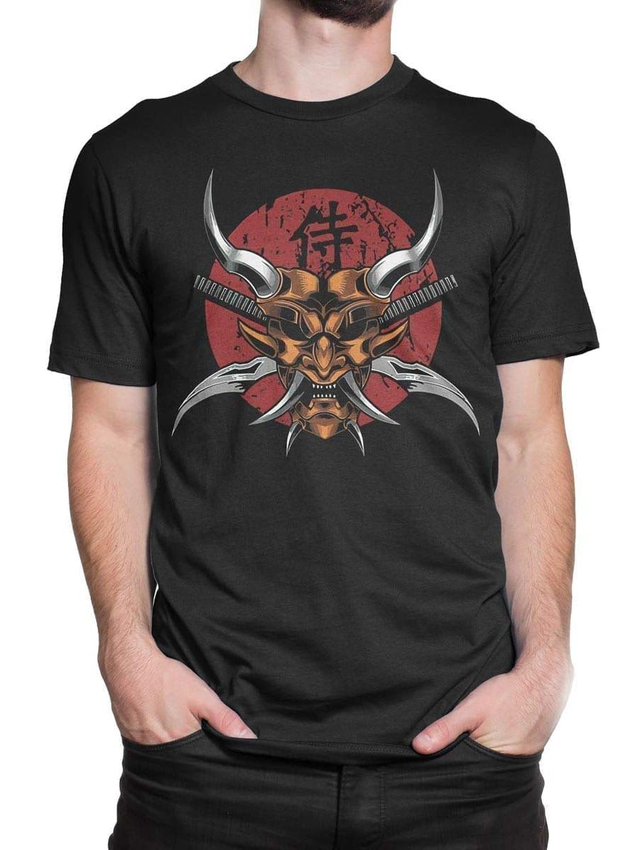 1941 Scary Samurai Mask T Shirt Front Man 2