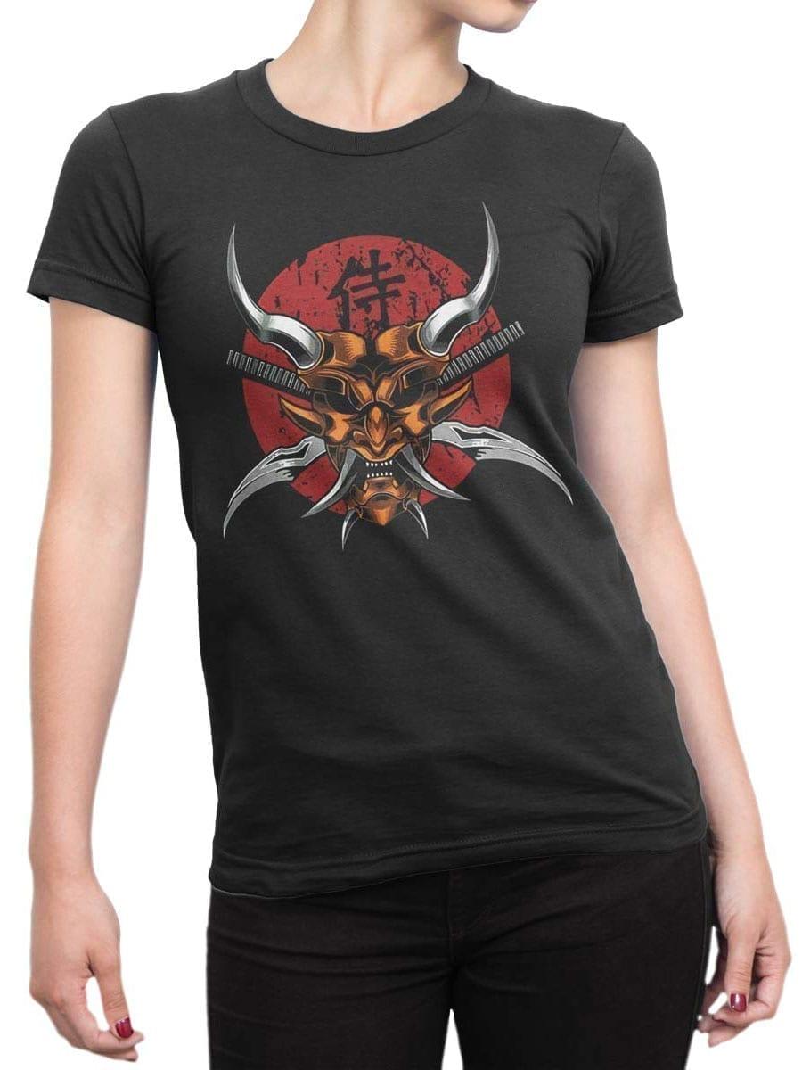 1941 Scary Samurai Mask T Shirt Front Woman
