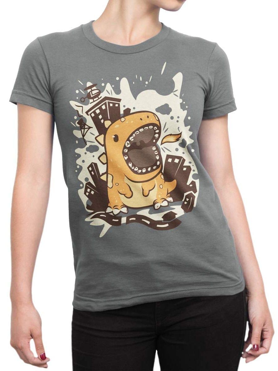 1943 Cute Godzilla T Shirt Front Woman