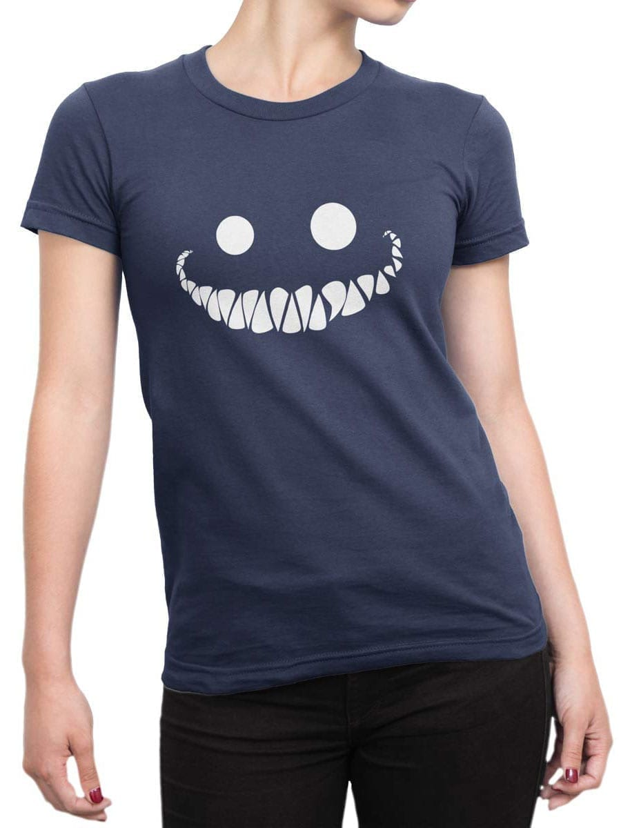 1946 Cheshire Cat Smile T Shirt Front Woman