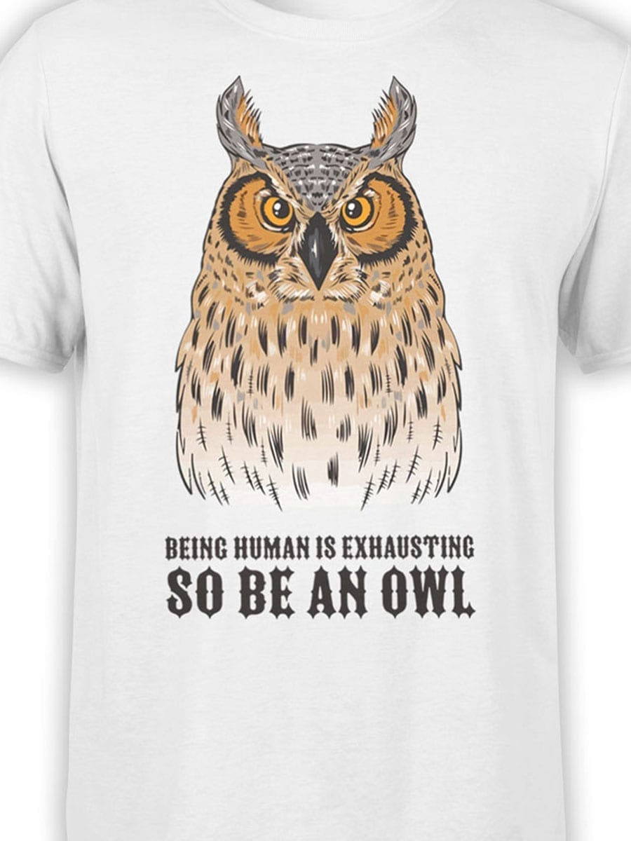 1947 Be an Owl T Shirt Front Color