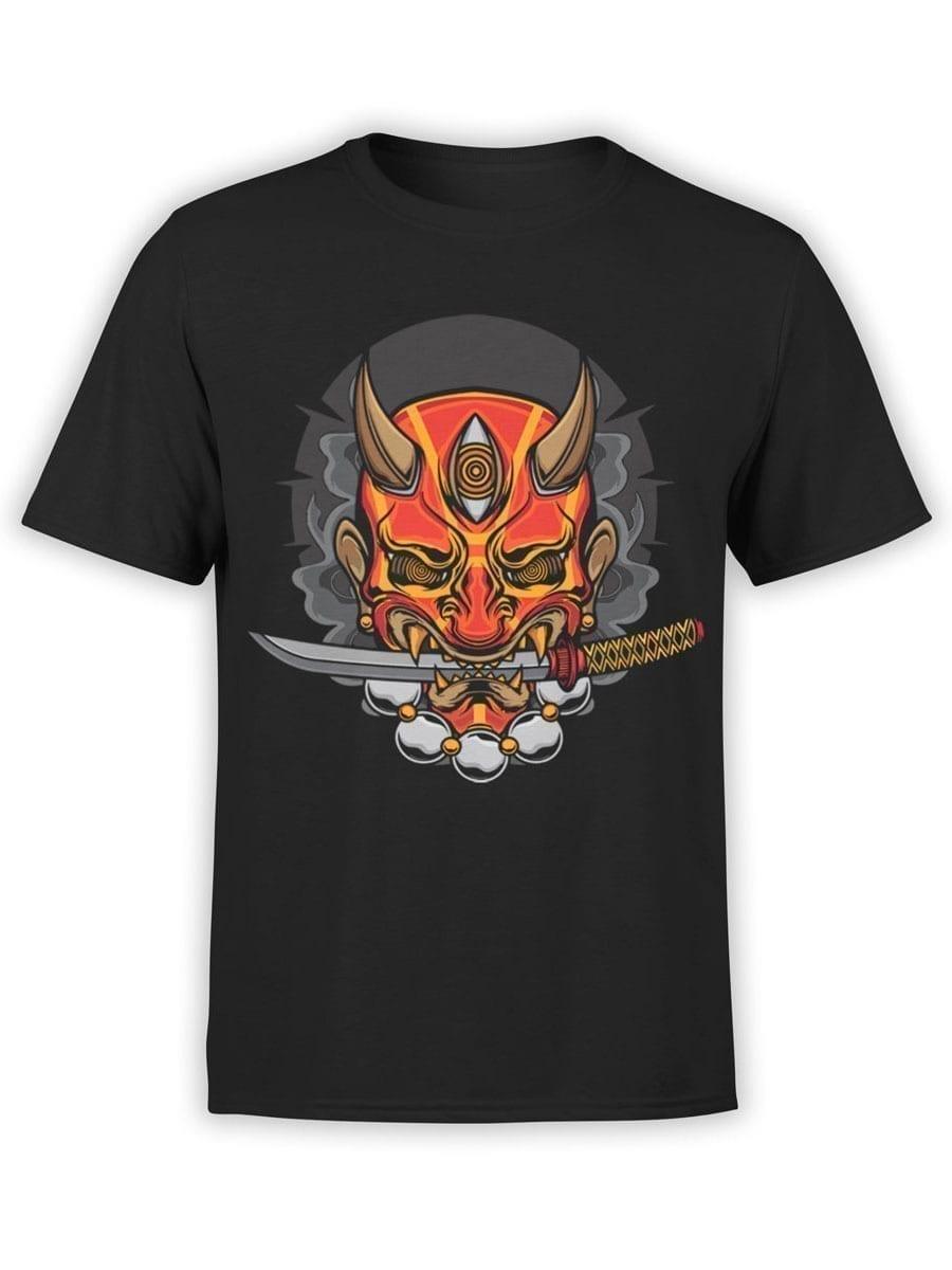 1949 Evil Samurai Mask T Shirt Front