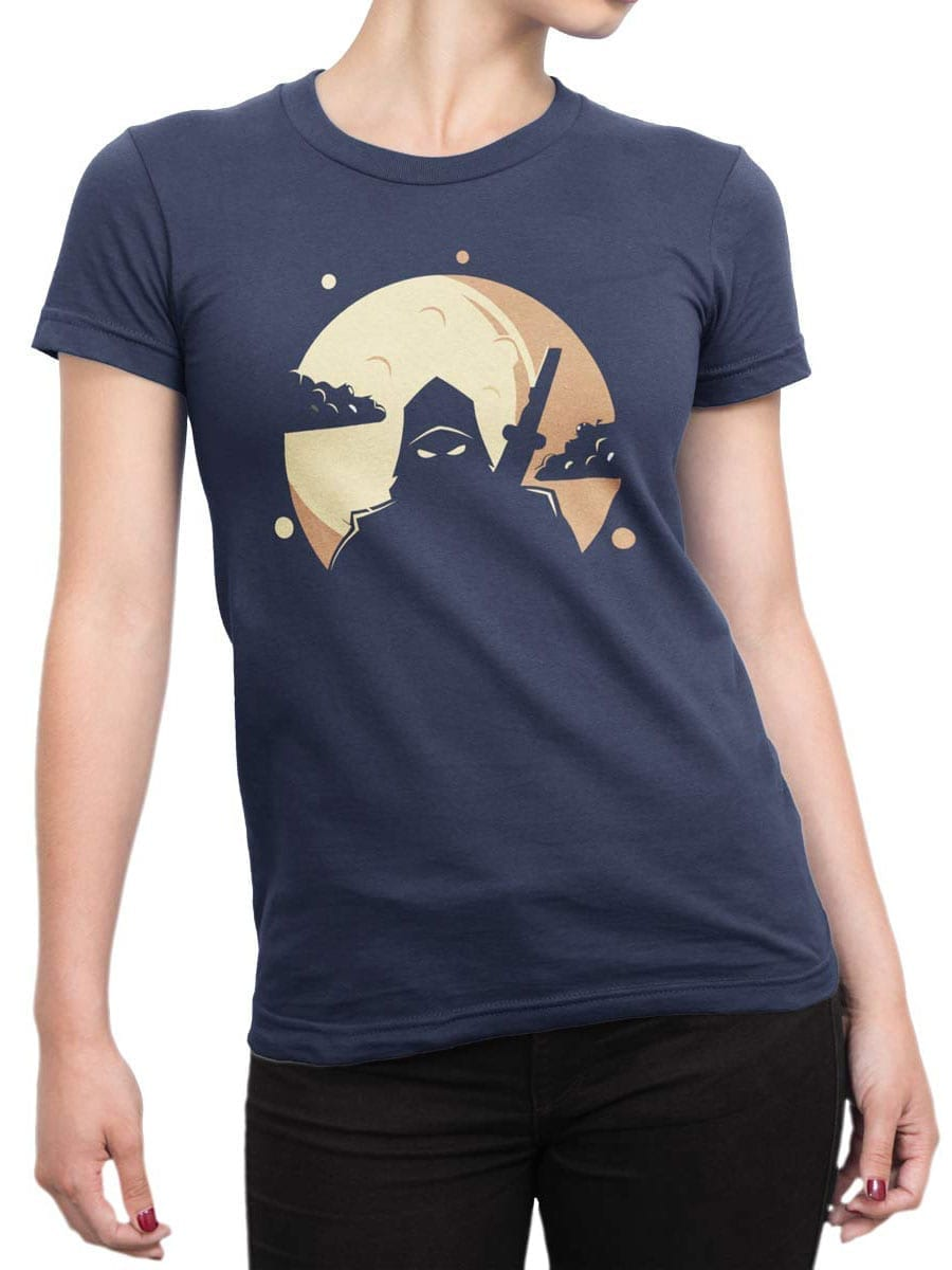 1955 Ninja Shadow T Shirt Front Woman