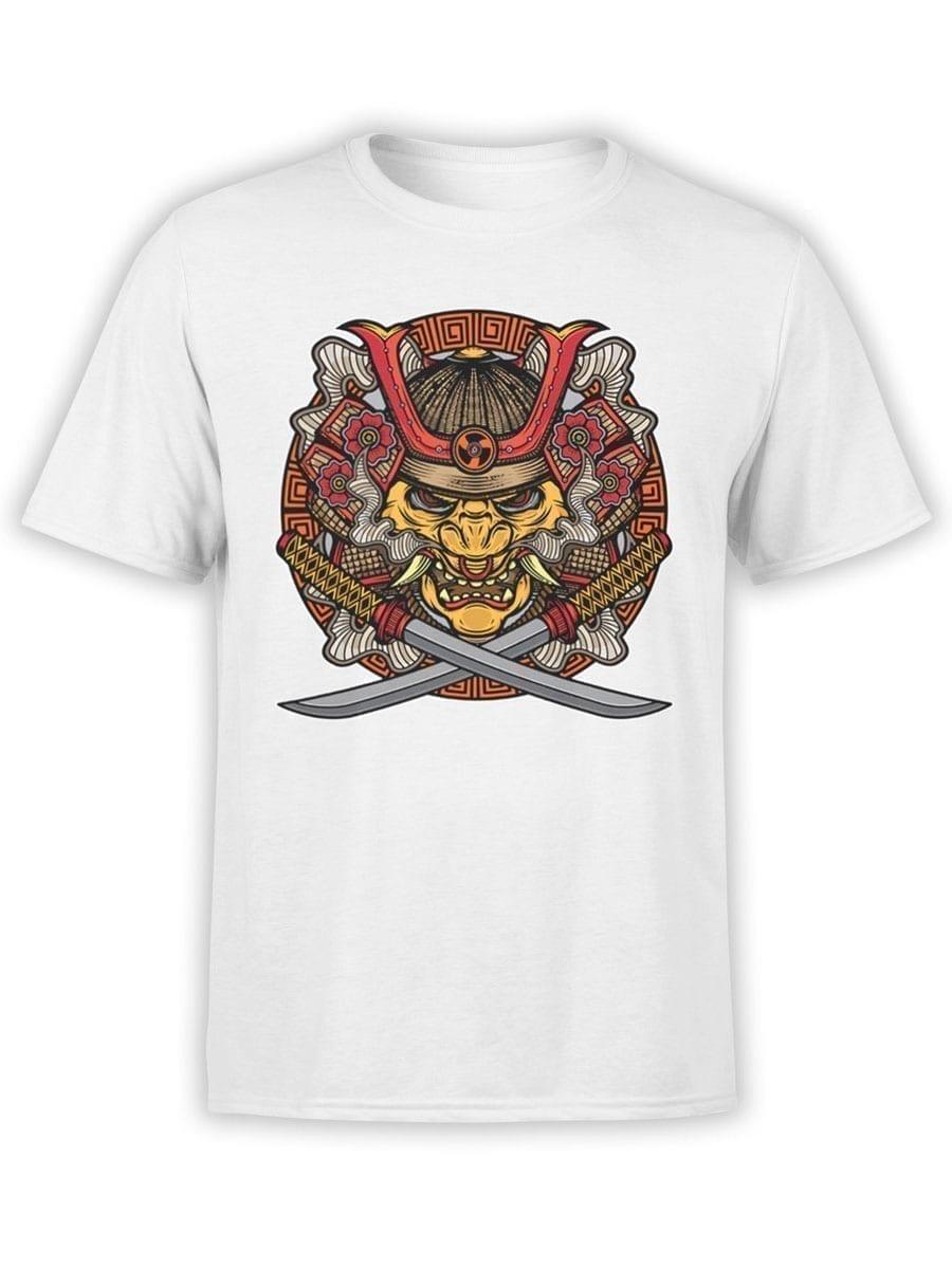 1957 Samurai Mask T Shirt Front