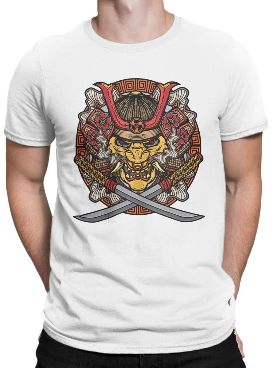 1957 Samurai Mask T Shirt Front Man