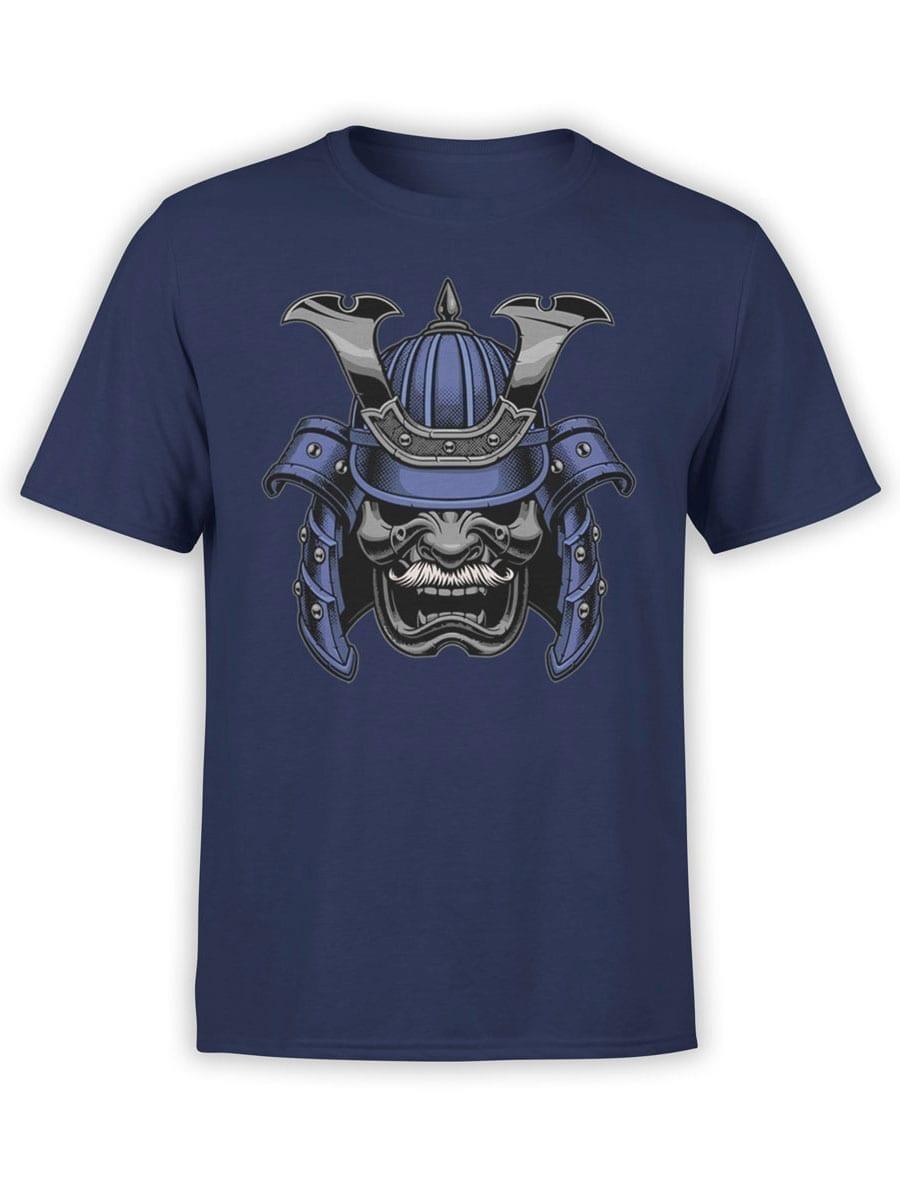 1961 Blue Samurai Mask T Shirt Front