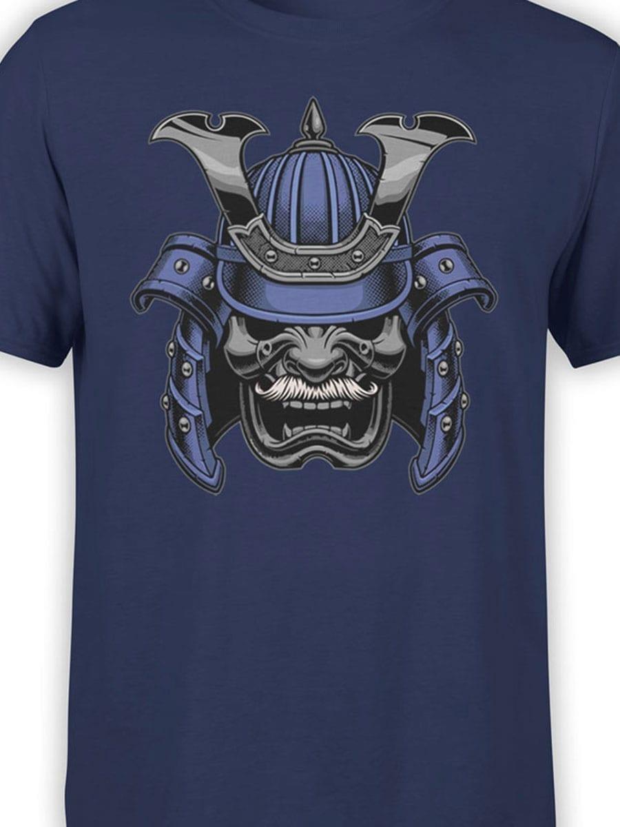 1961 Blue Samurai Mask T Shirt Front Color