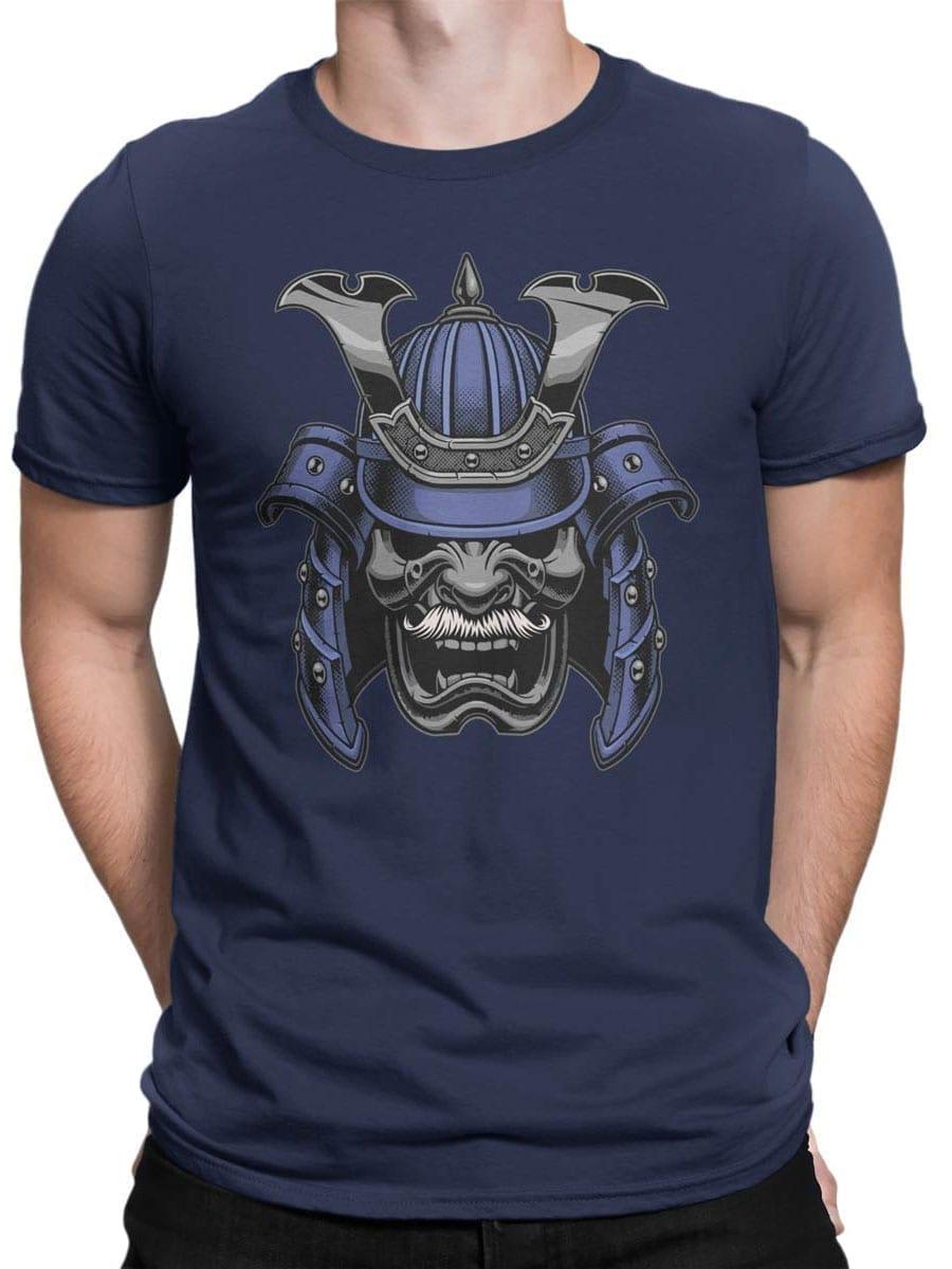 1961 Blue Samurai Mask T Shirt Front Man