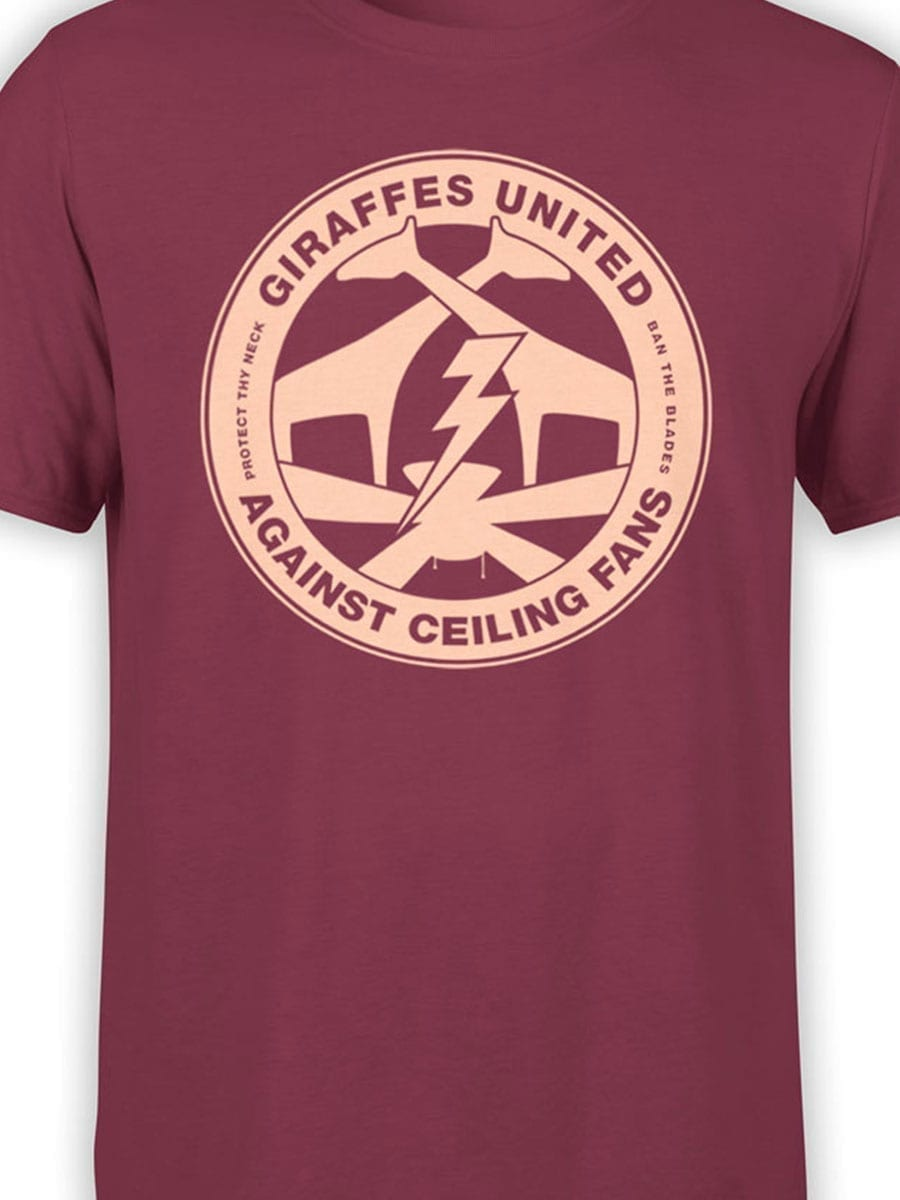 1962 Giraffes United T Shirt Front Color