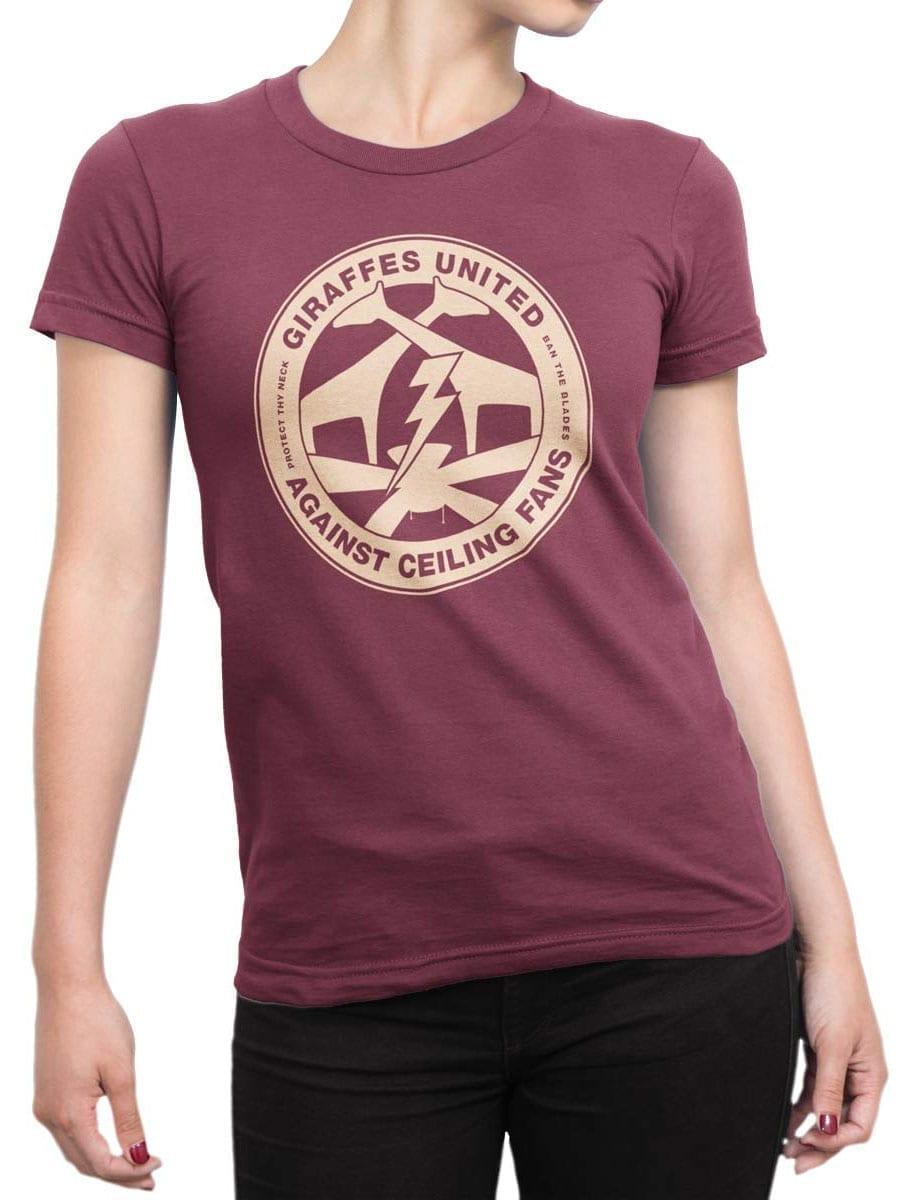 1962 Giraffes United T Shirt Front Woman