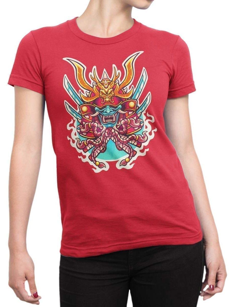 1964 Samurai Mask T Shirt Front Woman