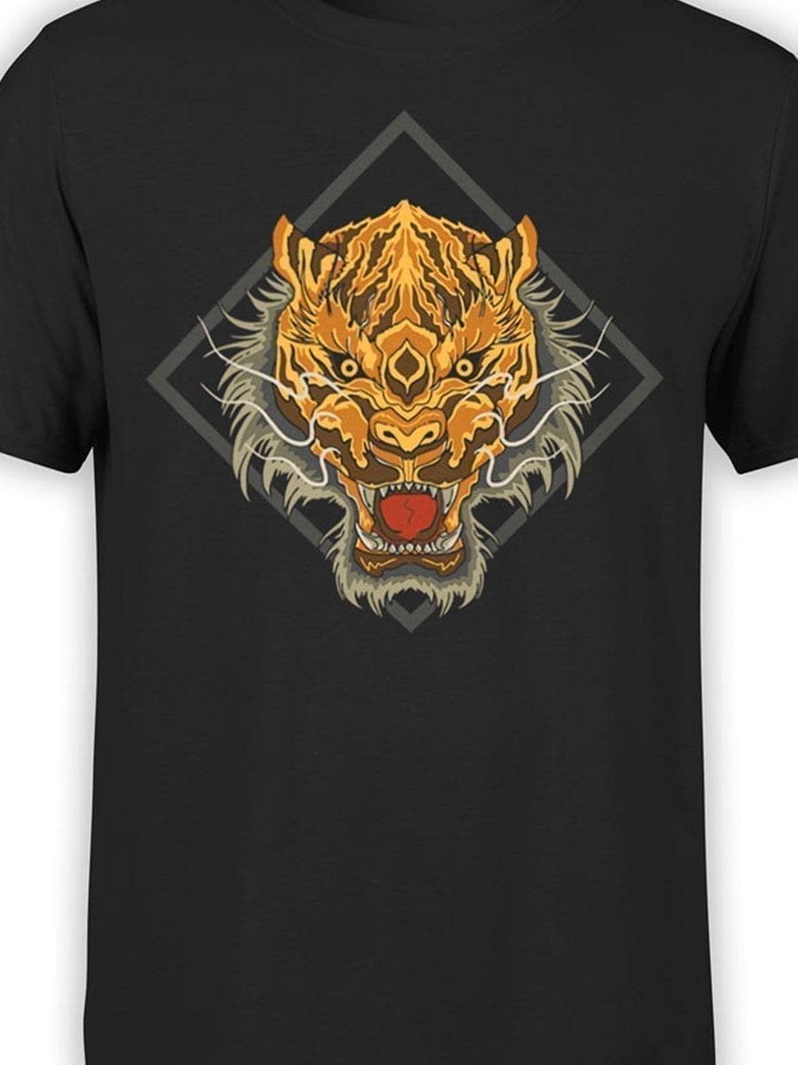 1969 Chinese Tiger T Shirt Front Color