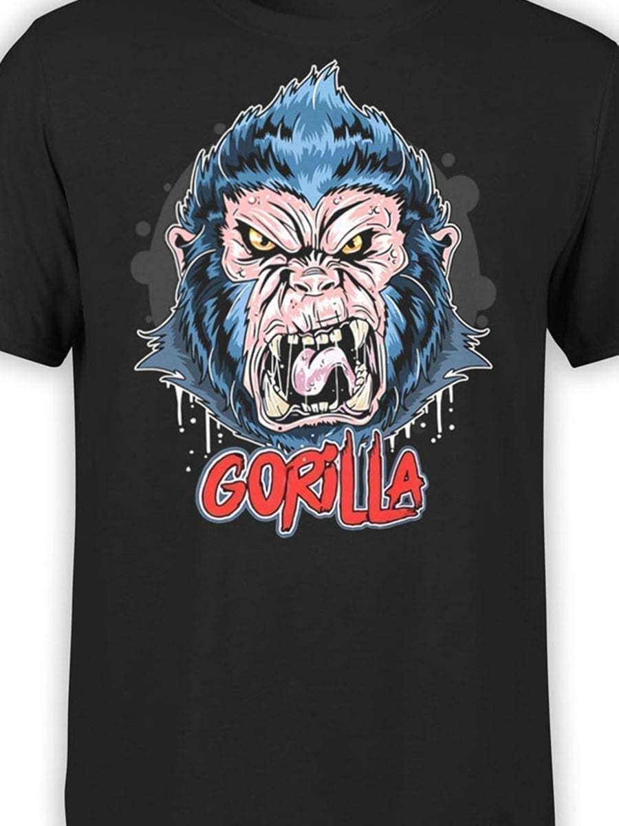 1971 Angry Gorilla T Shirt Front Color