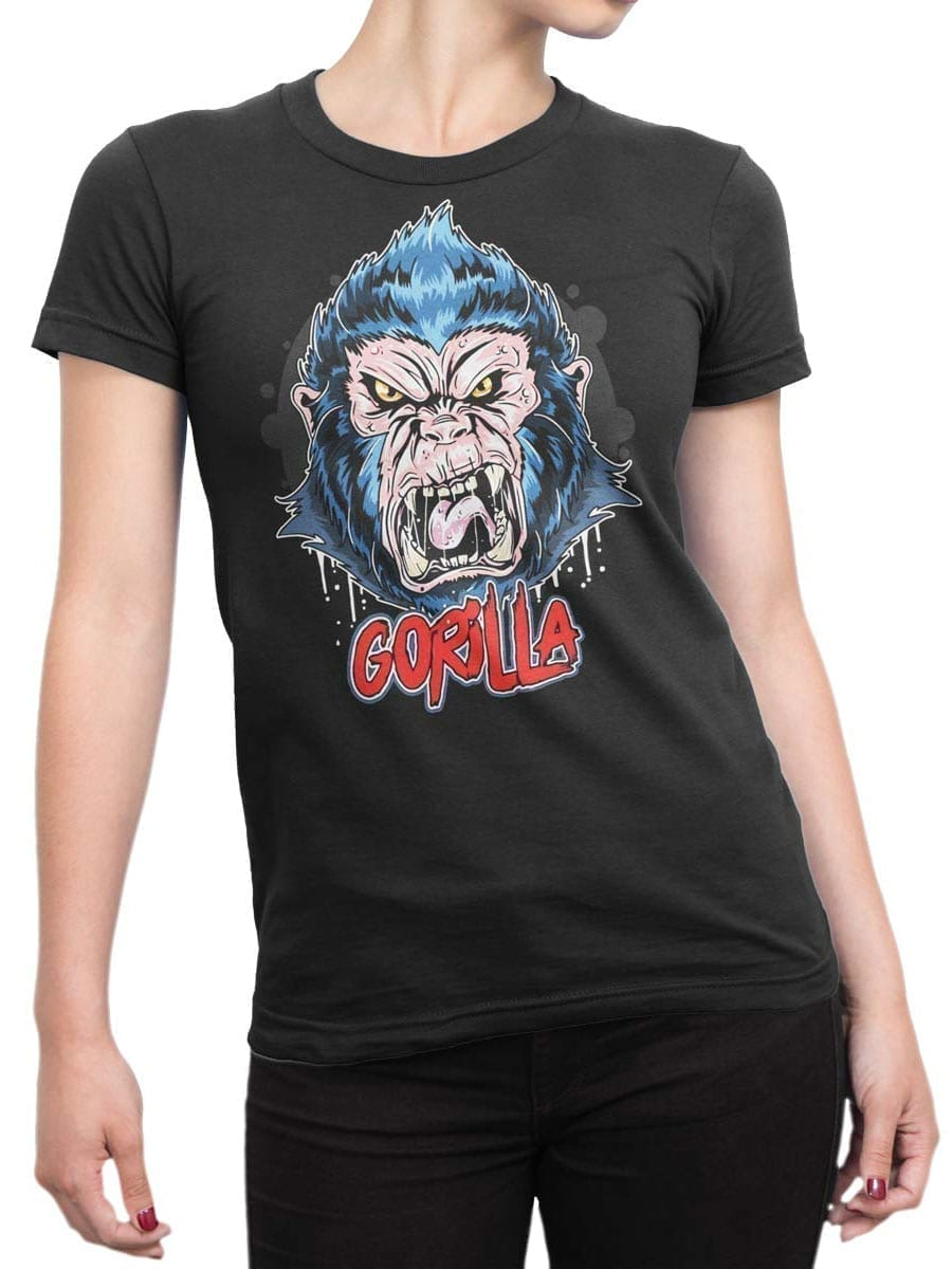 1971 Angry Gorilla T Shirt Front Woman