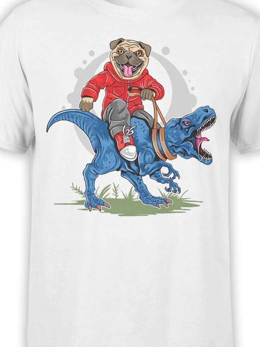 1975 Super Pug T Shirt Front Color
