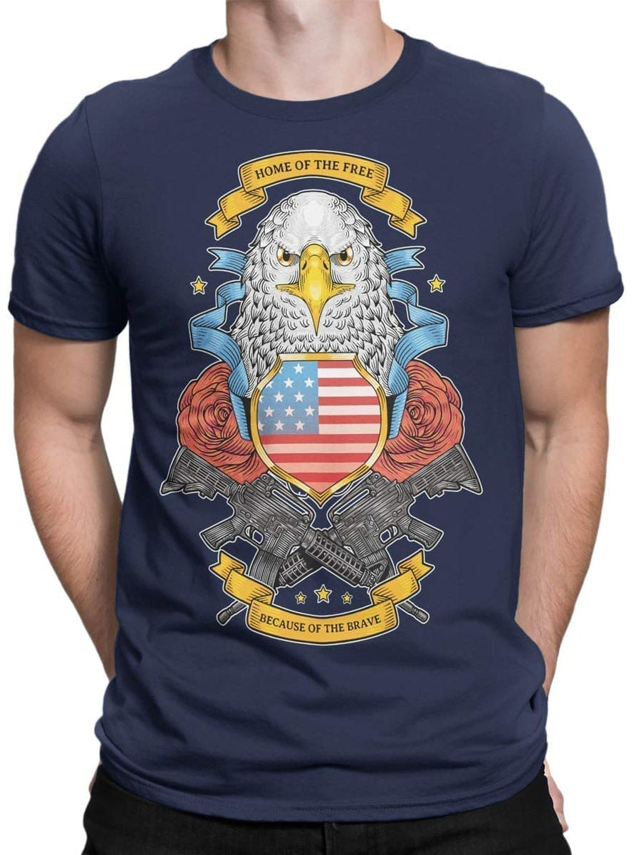 1977 Brave T Shirt Front Man