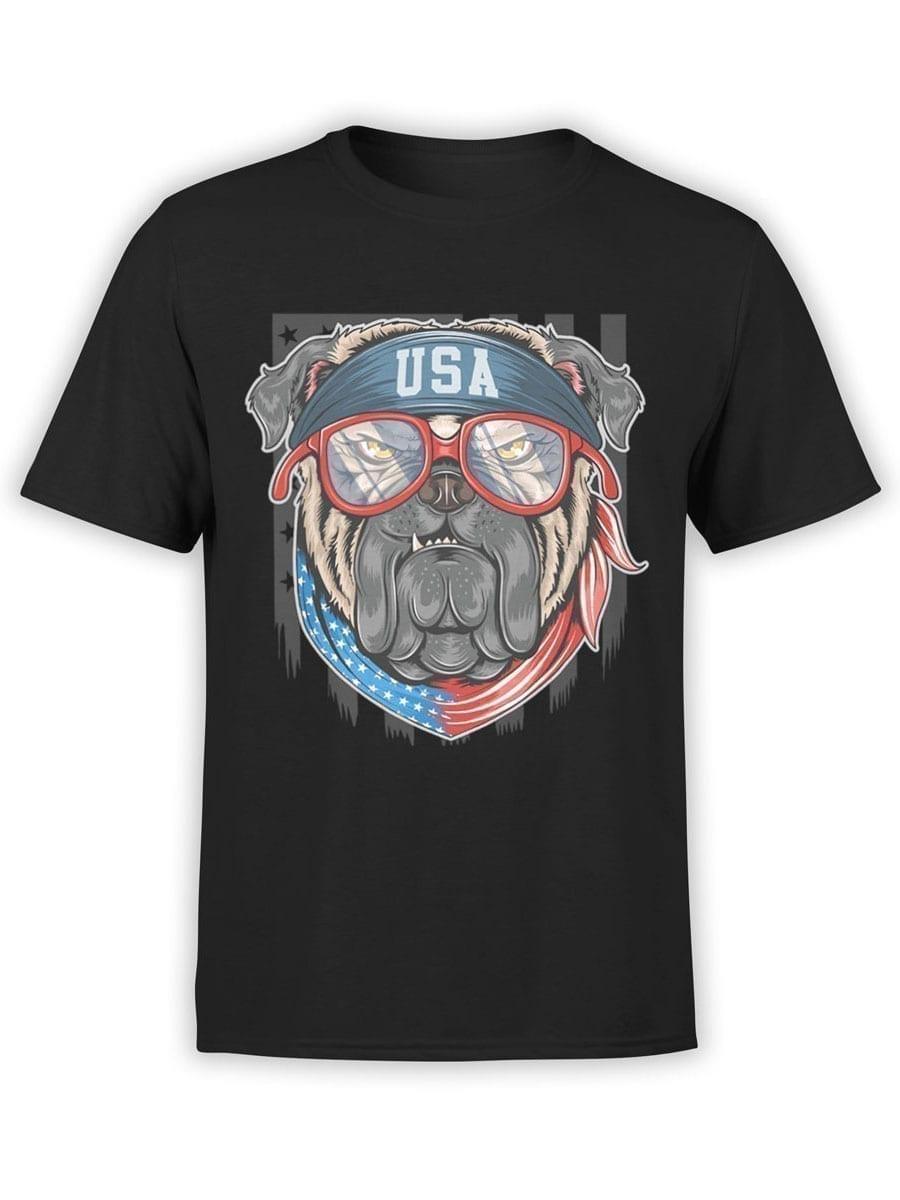1979 Patriotic Pug T Shirt Front