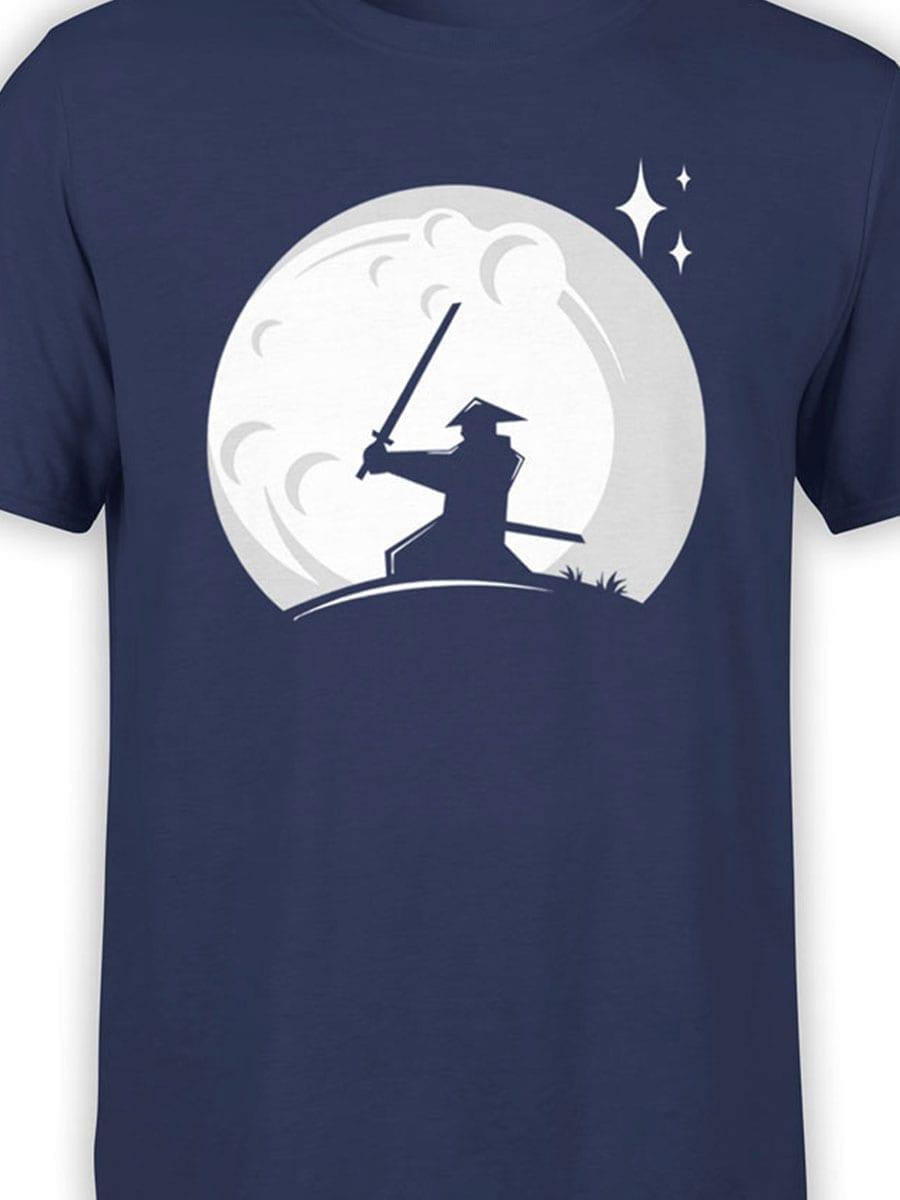 1980 Samurai Moon T Shirt Front Color