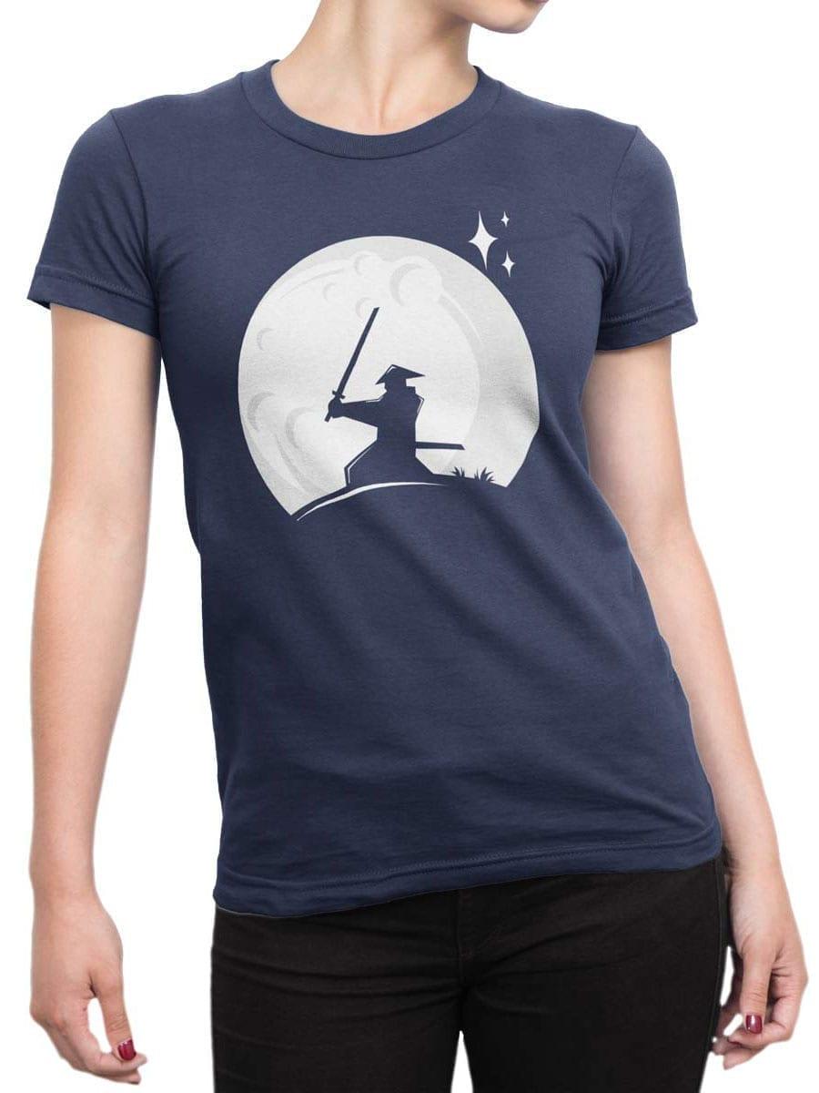 1980 Samurai Moon T Shirt Front Woman