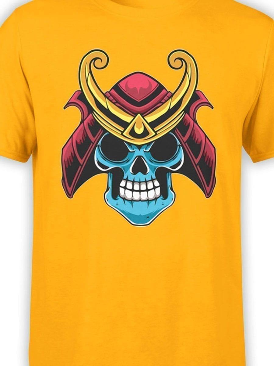 1983 Samurai Skull T Shirt Front Color