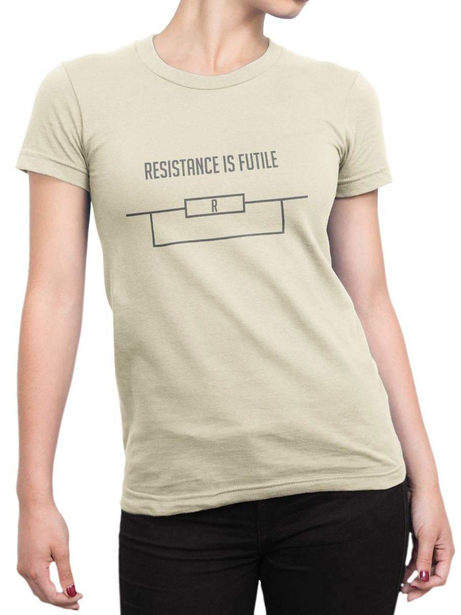 1984 Resistance is Futile T Shirt Front Woman