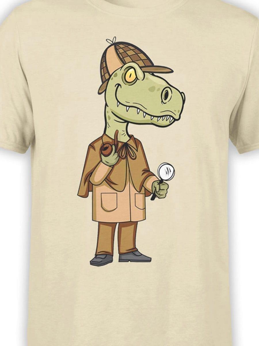 1985 Sherlok Dinosaur T Shirt Front Color