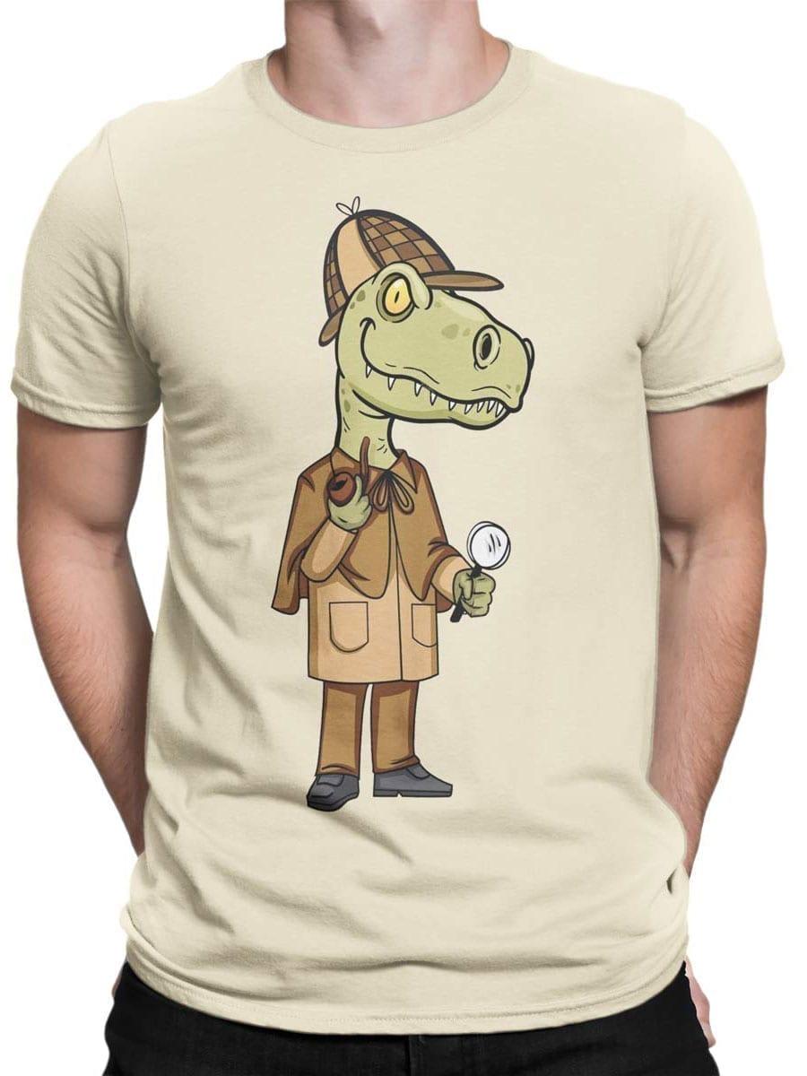 1985 Sherlok Dinosaur T Shirt Front Man