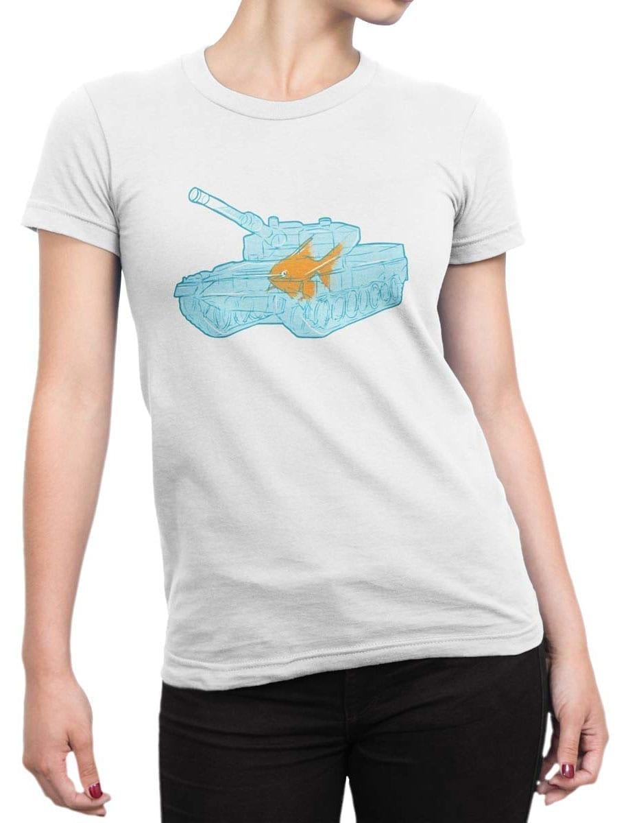 1986 Fish Warrior T Shirt Front Woman