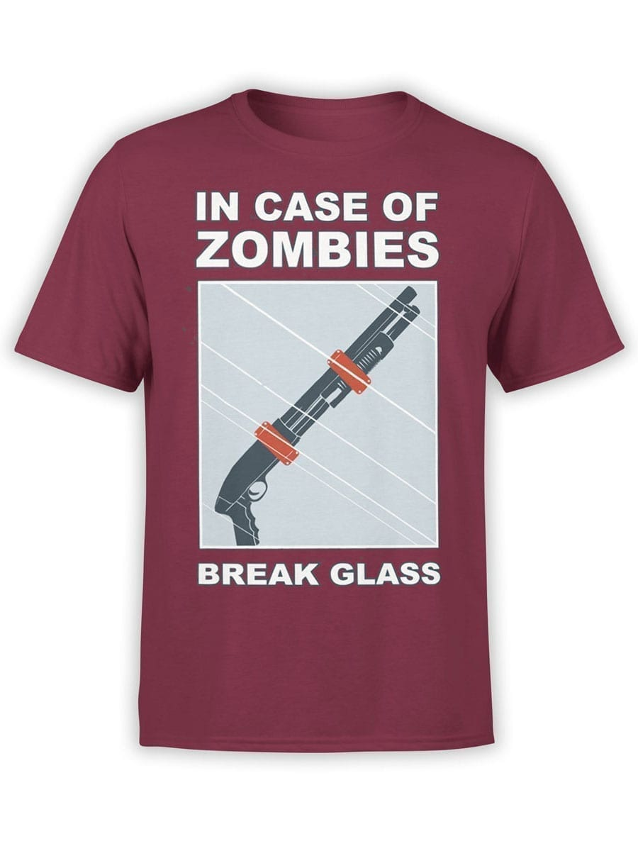 1987 In Case Of Zombies T Shirt Front