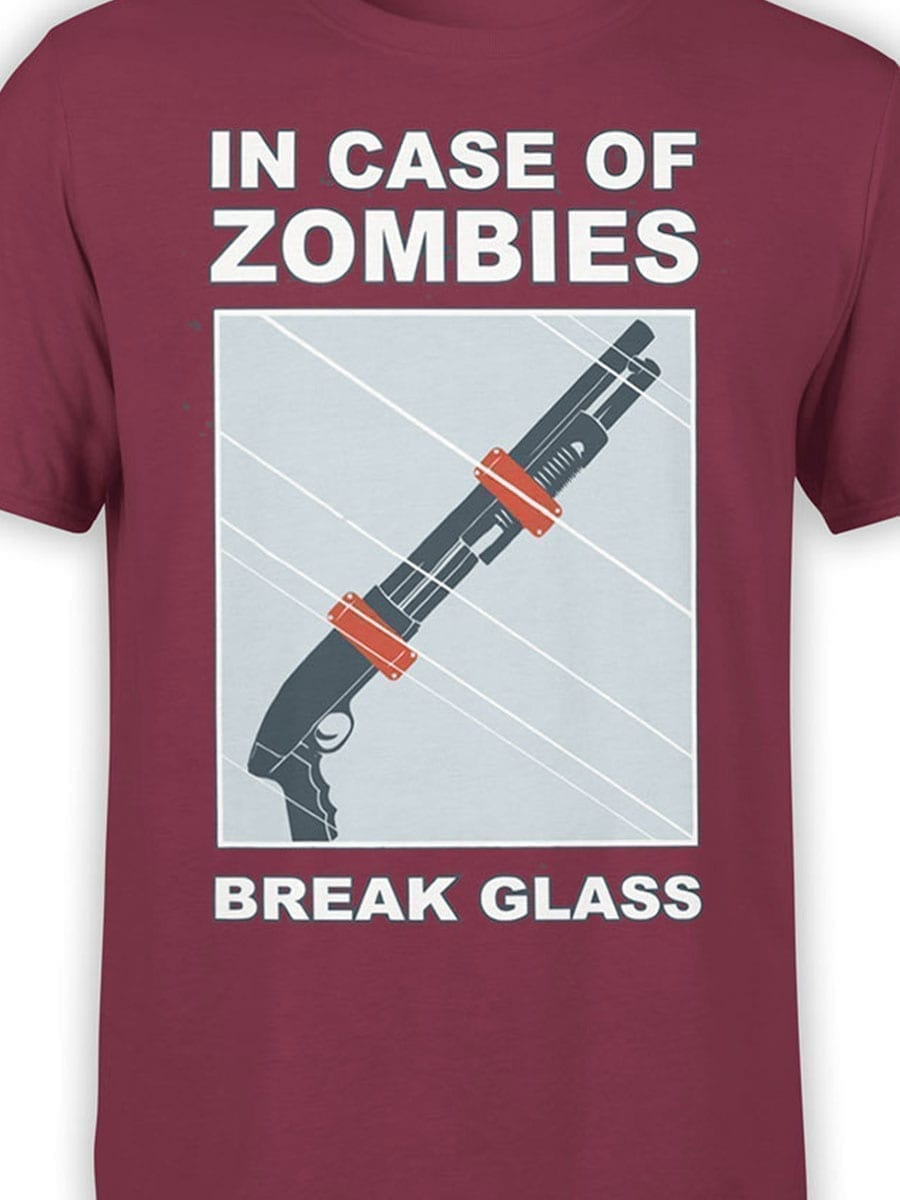 1987 In Case Of Zombies T Shirt Front Color
