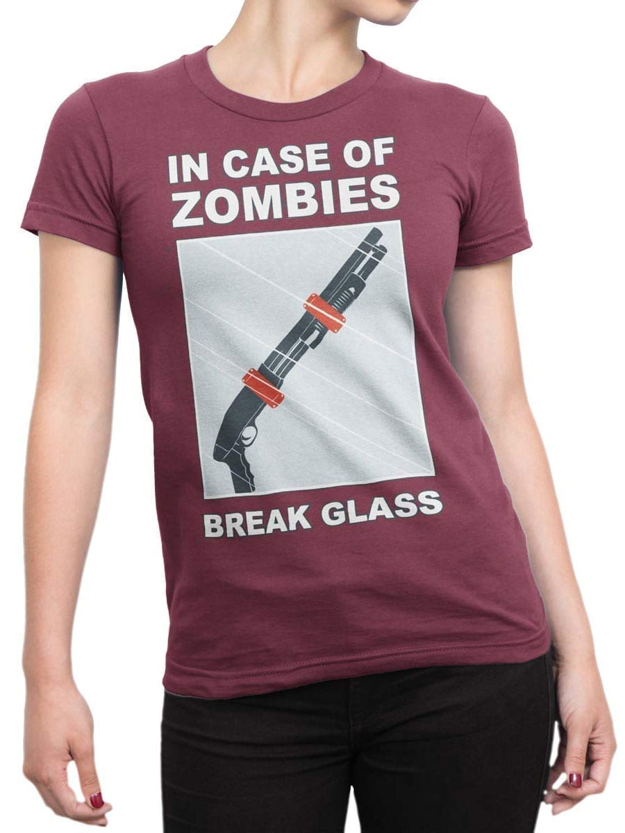 1987 In Case Of Zombies T Shirt Front Woman