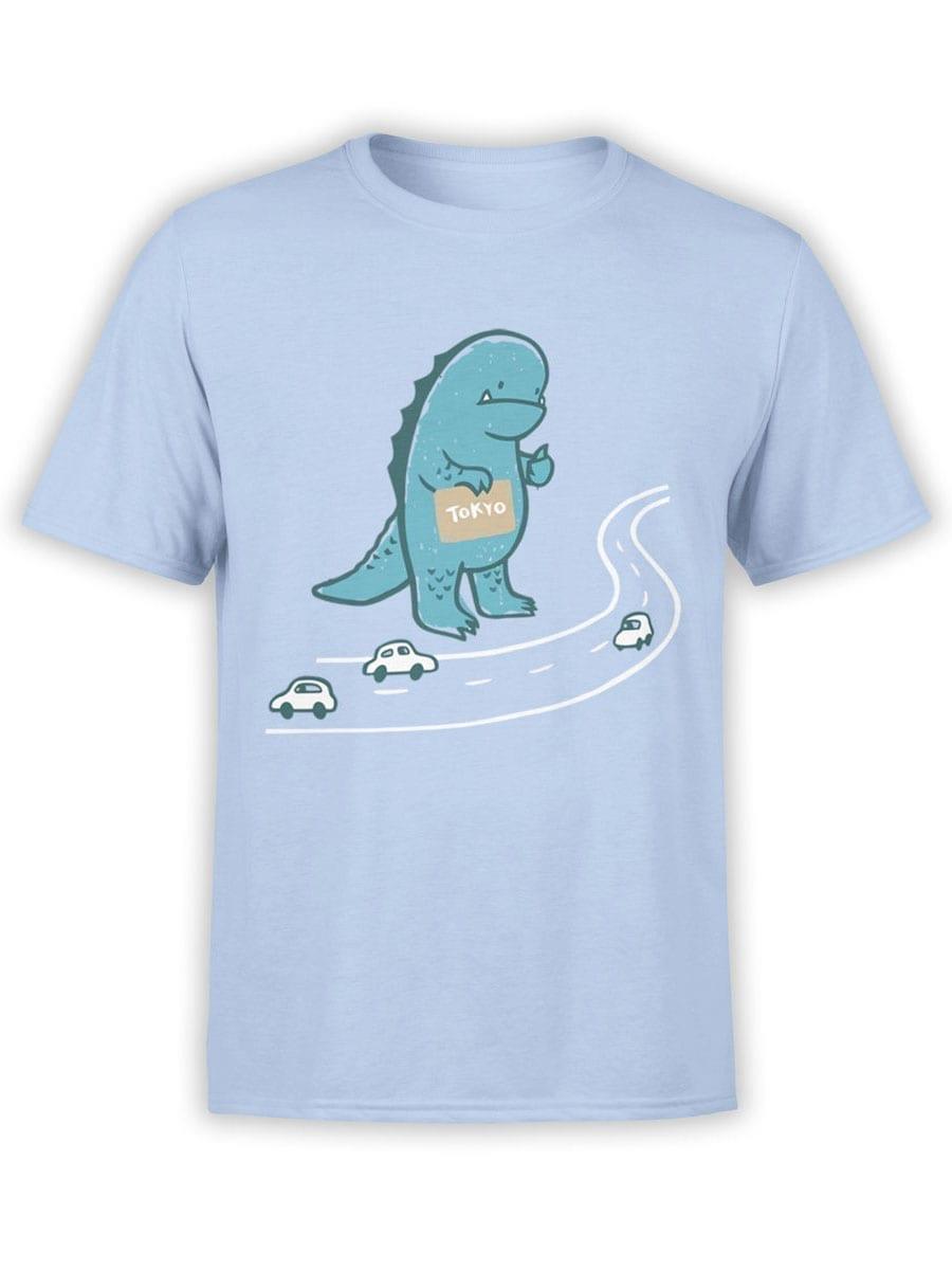 1988 Godzilla Hitchhiker T Shirt Front