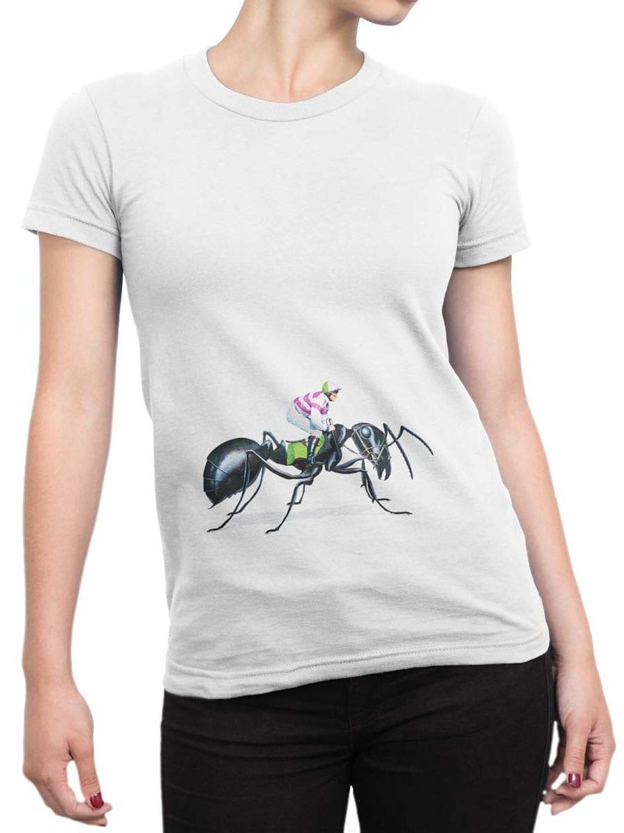 2000 Ant Jockey T Shirt Front Woman