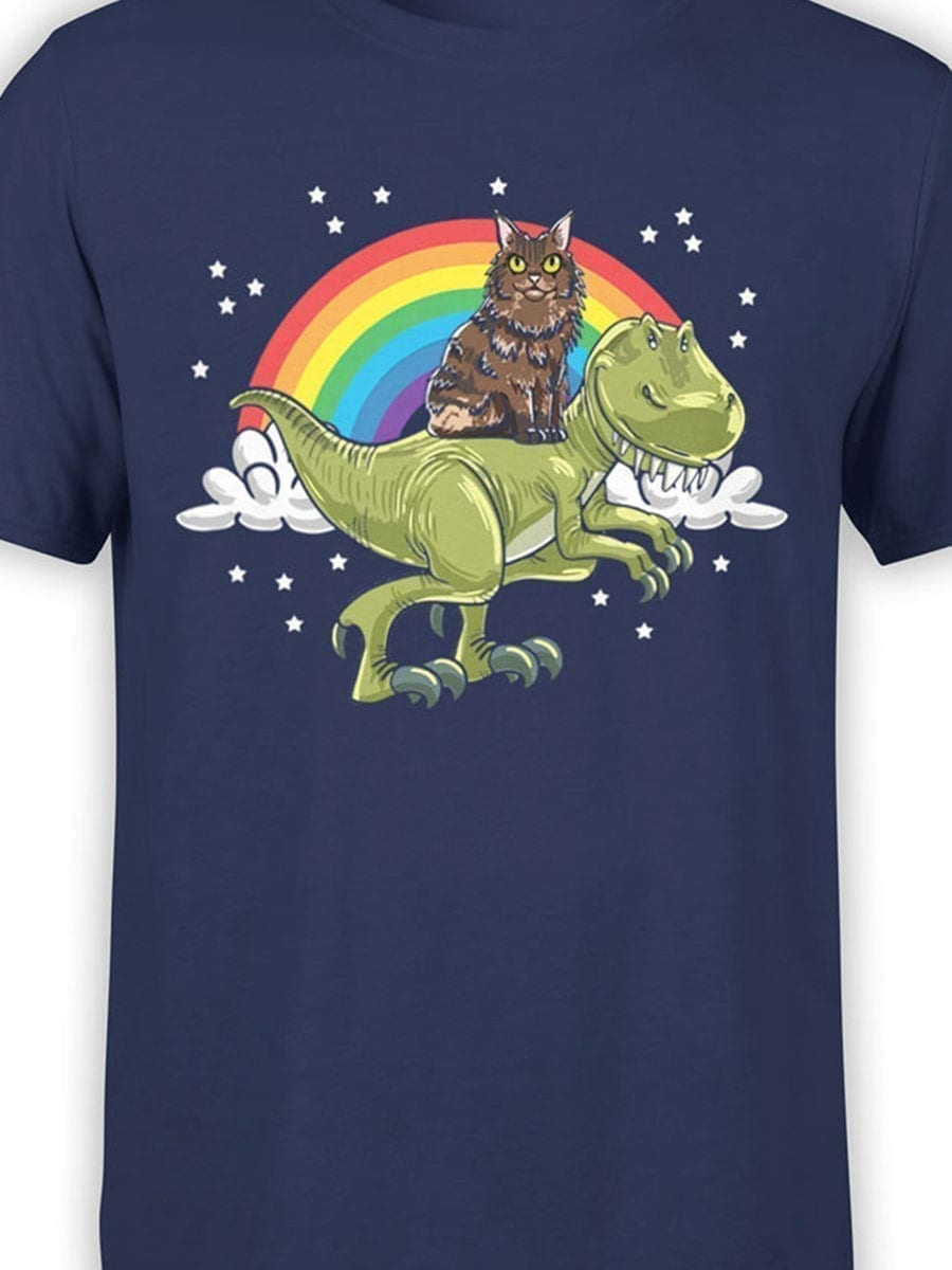 2009 Cat and Dino T Shirt Front Color