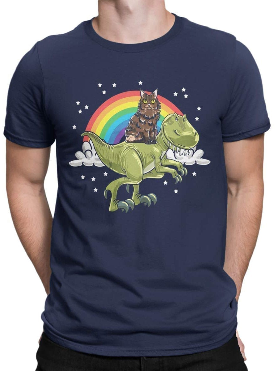 2009 Cat and Dino T Shirt Front Man