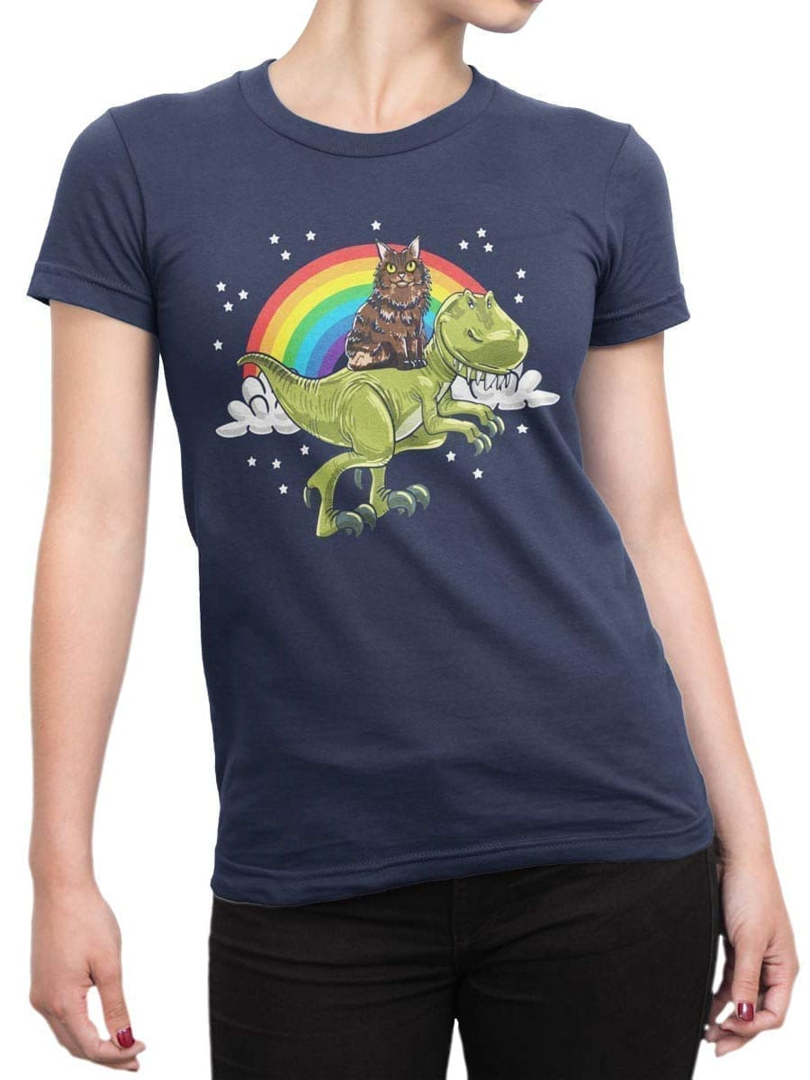 2009 Cat and Dino T Shirt Front Woman