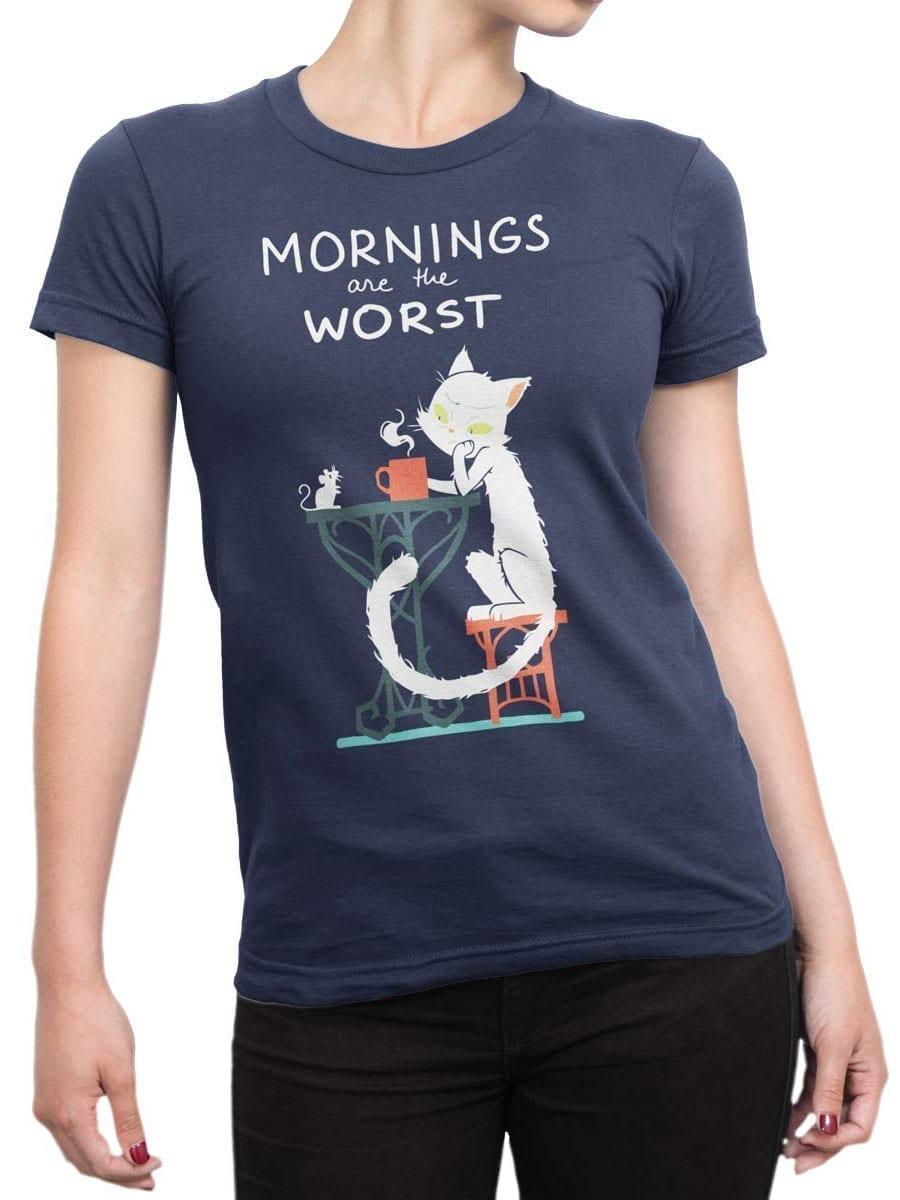2012 Morning Cat T Shirt Front Woman