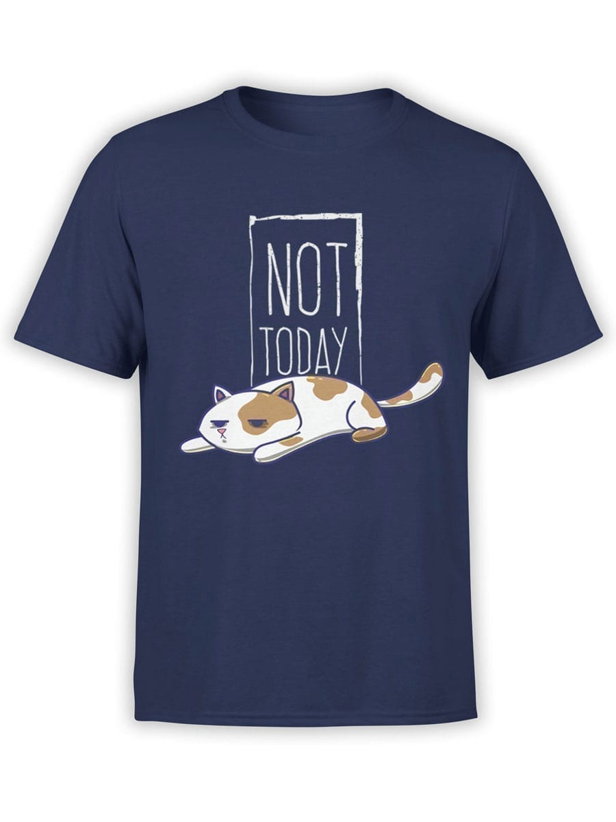 2021 Not Today Cat T Shirt Front