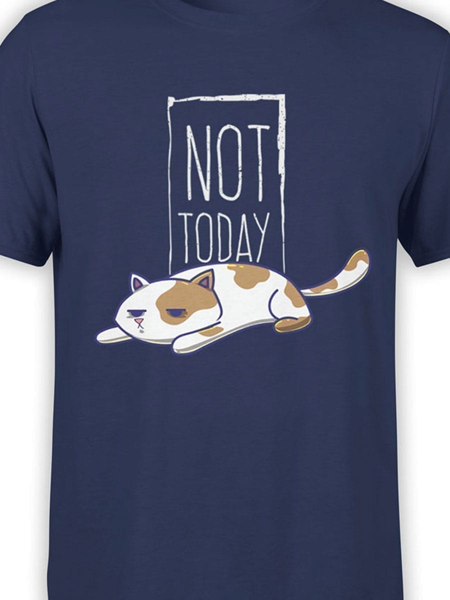 2021 Not Today Cat T Shirt Front Color