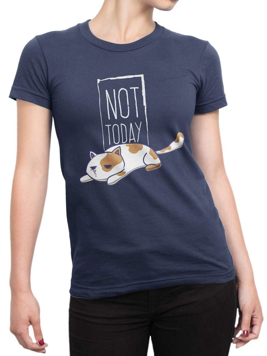 2021 Not Today Cat T Shirt Front Woman