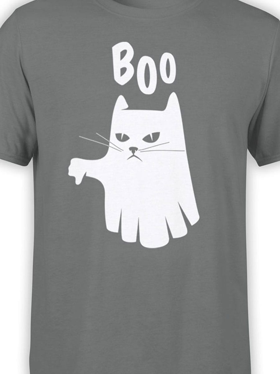 2022 Boo Cat T Shirt Front Color