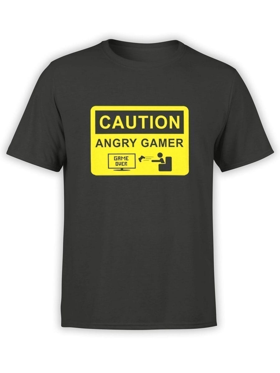 2030 Angry Gamer T Shirt Front