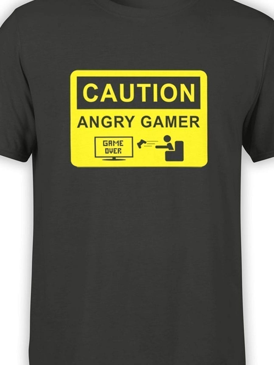 2030 Angry Gamer T Shirt Front Color